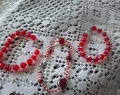 Beaded Bracelet, Beaded Anklelette