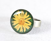Sunshine Flower, Adjustable Ring 3/4 inch (18mm)