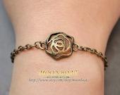 Antique Bronze Retro Style Flower Bracelet MB281