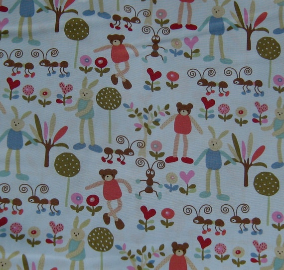 Bears Ants and Bunny Japanese Cotton