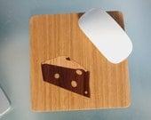 "Hand made Veneer Mousepad ""cheese"""