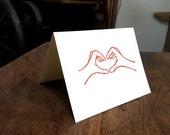 Heart Hands card