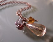 The Kate Drop Coppertone Chain Necklace (Recycled)