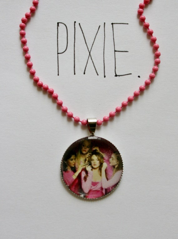mean girls cameo necklace by pixieandpixier on etsy
