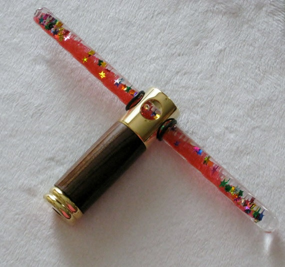 Red oil wand kaleidoscpoes with exotic bocote by for Wooden elder wand for sale