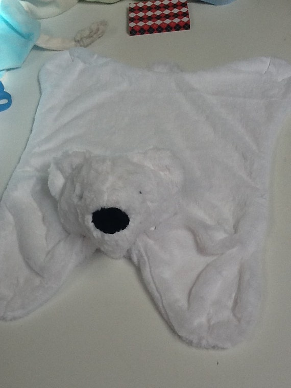 Reserved for Mary, Polar Bear Minky Snuggle Blanket
