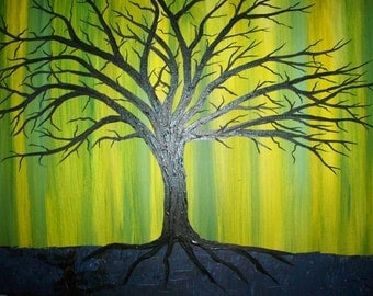 Modern Textured Tree 18x24 Special reduced price
