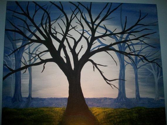 HUGE Surreal Misty Tree 24x30