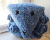 Periwinkle won't go out with a wrinkle re purposed wool sweater sheep all original design