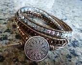 Precious Metal Triple Wrap Bracelet
