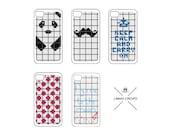 Cross Stitch Pattern - 5 Cross Stitch PATTERNS for iPhone Case- Easy Cross Stitch, Cross Stitch Design--
