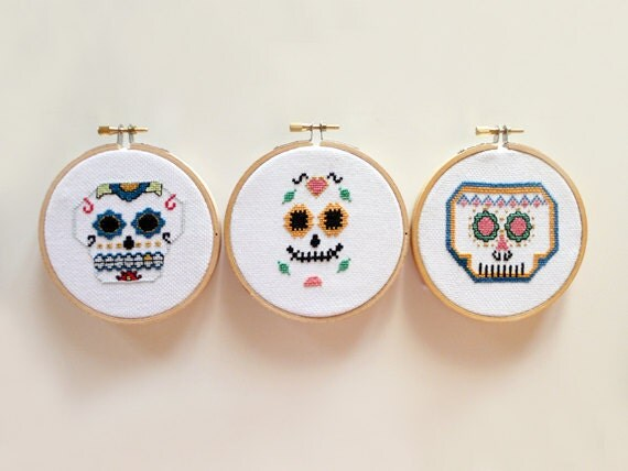 Mexican Skull Team- Cross Stitch PATTERNS