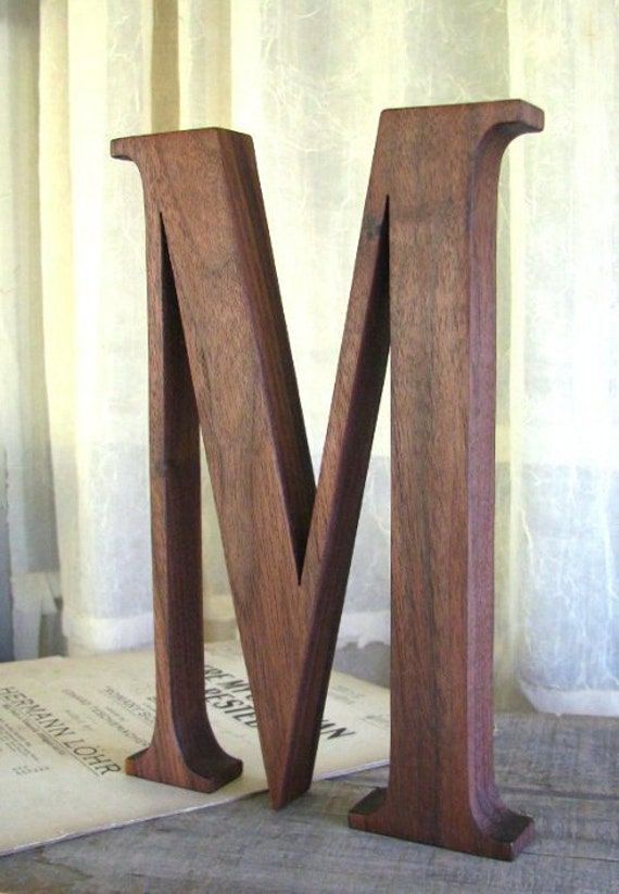 modern wood letters black walnut 12 made to order With walnut wood letters