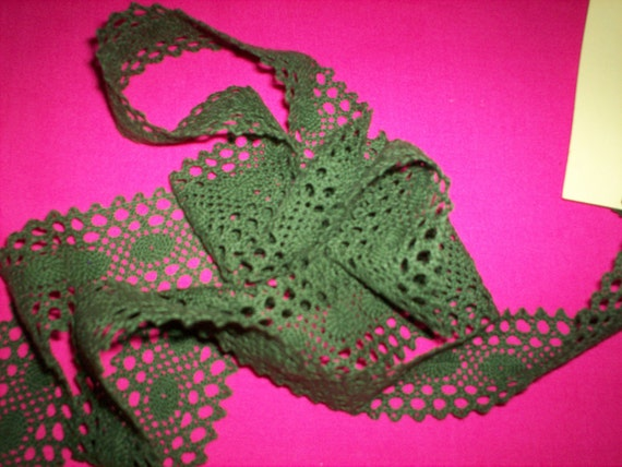 Hunter Green Lace Price Reduction