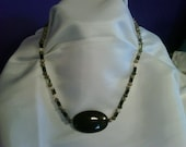 Jet and Natural Stone beaded choker