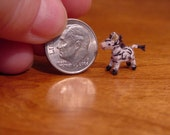 Extreme MICRO ZEBRA  ((made to order)) -artist Miniature(Thread)Doll house/crocheted collectible-OOAK