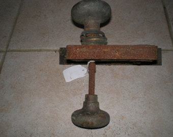 Vintage Corbin Door Lock with Knobs