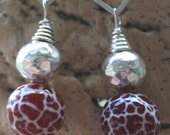 Hot Chili Red Agate Earrings