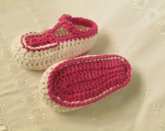 crochet baby girl crib shoes