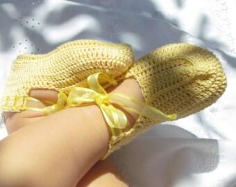 Baby Girl Yellow Booties