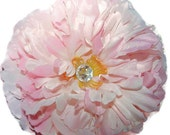 """Beautiful Large 6"""" Peony Hair Clip on 13/4"""" Alligator clip.  So stunning.  Available in Pink and white."""