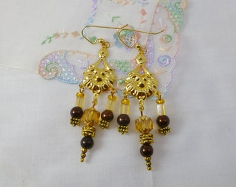 SALE! Gold Standard Beaded Chandelier Earrings
