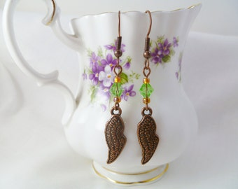 SALE! Feather Your Nest Dangle Earrings