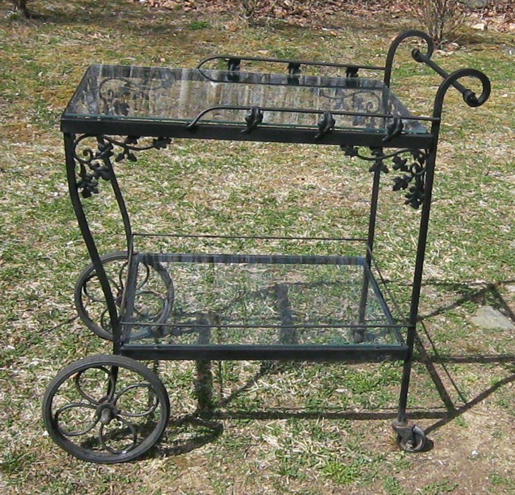 Vintage Russell Woodard Orleans Bar Cart Tea Cart