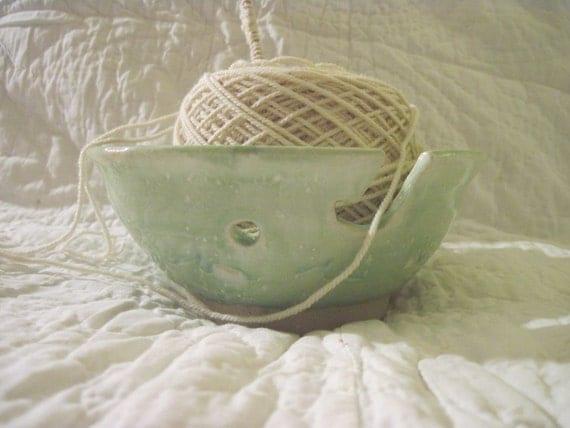 Celadon Green Yarn Bowl