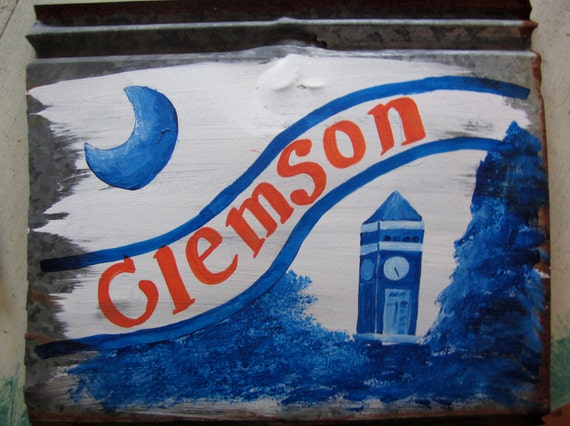 Clemson University Custom/Personalized Rustic Tin Sign