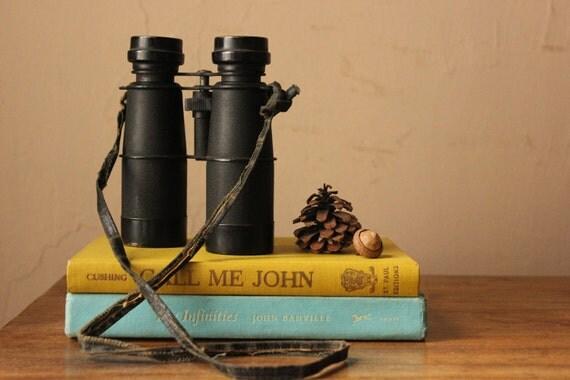 Black Vintage Binoculars