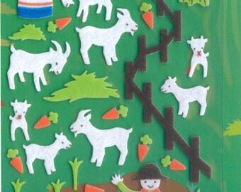 XMAS PROMO Korean Scrapbook Felt Stickers, The goat farm (STSM03003)