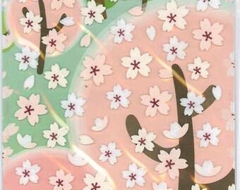 Korean Scrapbook Die-cut Felt Stickers,  Spring Sakura (STSM03021)