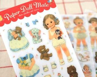 Korean Scrapbook sticker set - Paper Doll Mate Sticker Pack (6 sticker sheets) (STNO01095)