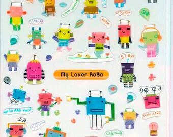 Korean Scrapbook Die-cut Felt Stickers, Robot Buddy (STSM03059)