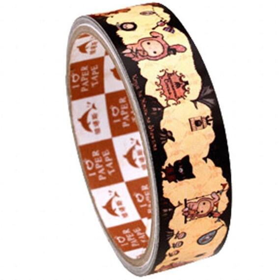 San-x paper deco tape - Rilakkuma series, Sentimental Circus in vintage color (DTLA02002)