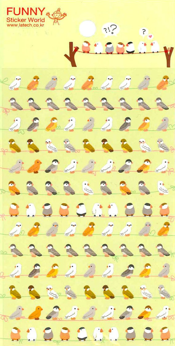 Korean Scrapbook Stickers - Petite Birds (STNO05007)