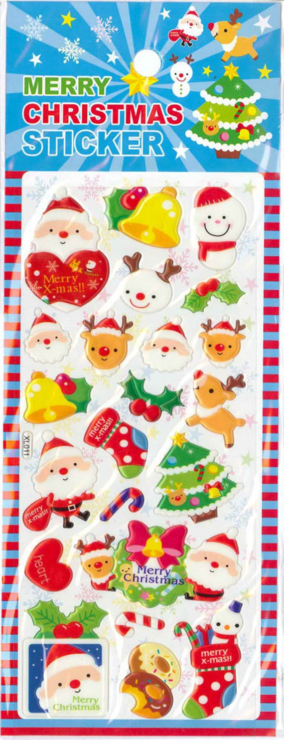 Giant Puffy DIe-cut Scrapbook Stickers, Christmas Fun (STPU02010)