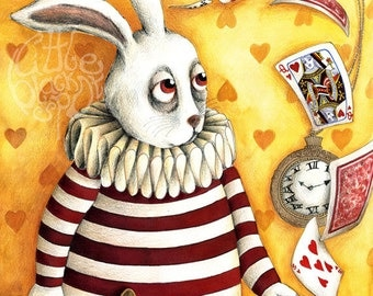 White Rabbit (from Alice in Wonderland) - open edition Art Print