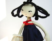 "C H L O E - 11"" handmade fashion doll loving elegance, travels and modern architecture, gift box MADE TO ORDER"