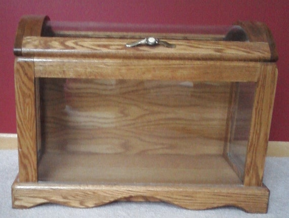 Oak and Glass Quilt Storage & Display Chest Reserved for Opal  Please do not purchase if you are not her. Thank you.