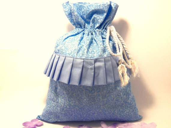 Drawstring bag elegant for travel or organizing at home-gift bag-project bag