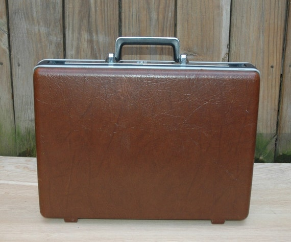 Vintage Simsonite Hardshell Briefcase Attache Laptop Lawyer Business