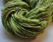 Handspun Yarn - Spring Green Tweed with Sparkle
