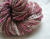 Handspun Yarn - Strawberry Cheesecake, varigated with sparkle