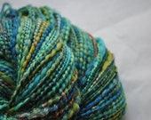 Handspun Yarn - Dragon - green, blue, teal and sparkle