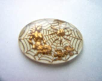 Vintage Glass Intaglio of  a Woman with a Spiderman    # PP 1-2