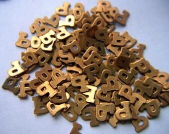 Vintage Brass Block Letter P  x 15