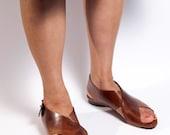 Brown cross straps women sandal