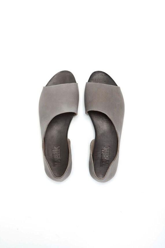 SALE 30%   Grey Open toe women shoes